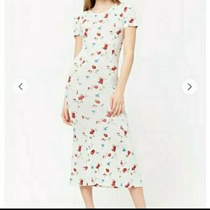 NWT Forever 21 Long Midi Floral Print Dres…